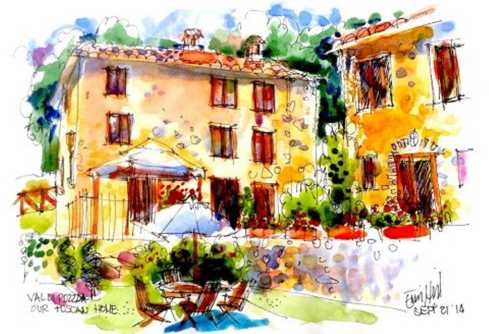 Sketching in Tuscany with Erin Hill May 1-8 in 2018
