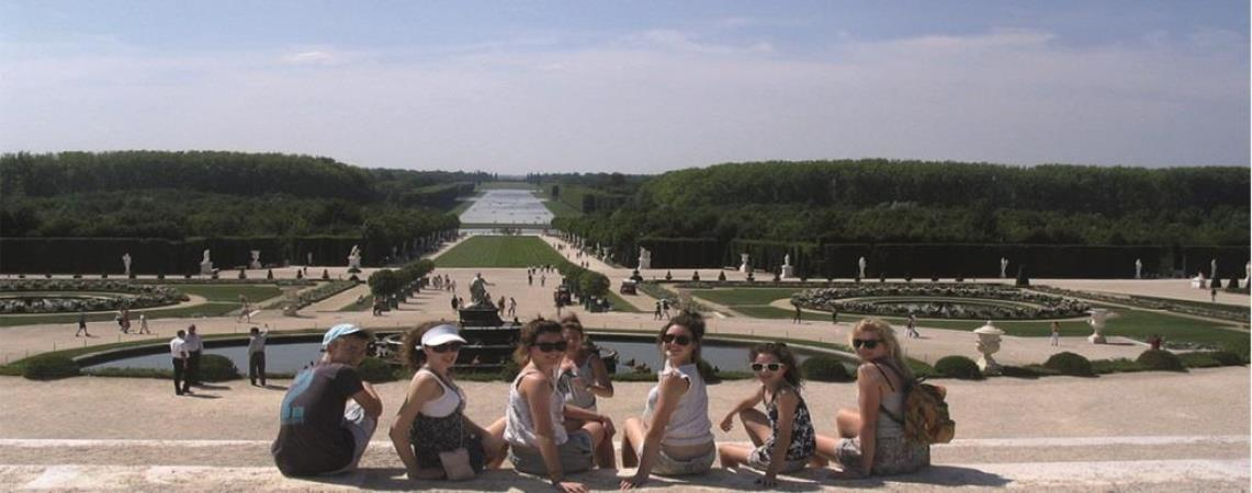 Families in France tour at Versailles palace Paris