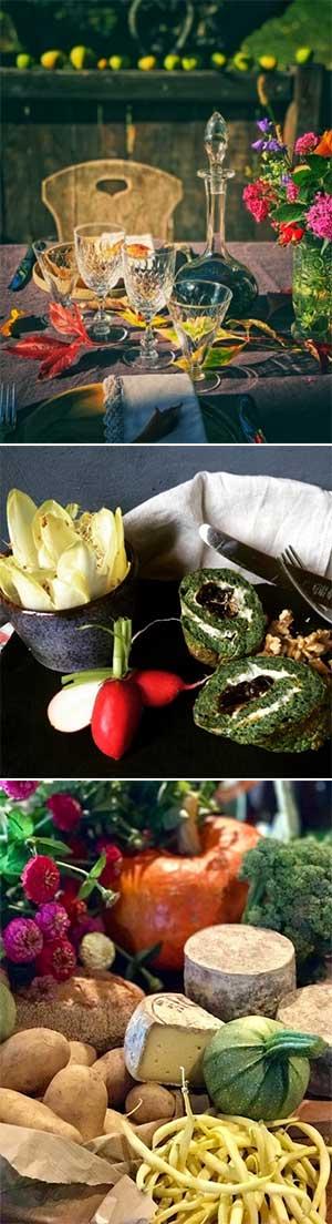 Gourmet-Food-Illustration-retreat-chalet-food-trio
