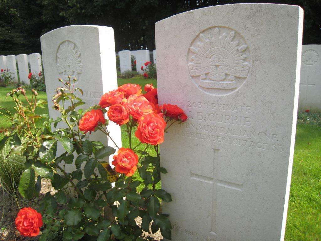 WW1 Australian Anzac soldier headstone