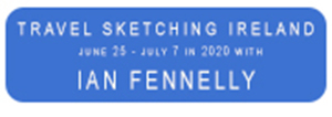 travel sketching with Ian Fennelly Ireland