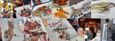 travel sketching tour Japan