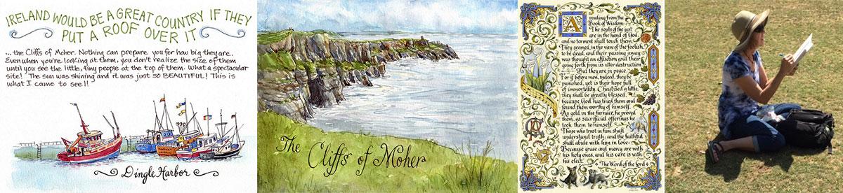 Leslie-Fehling-sketching-tour-Ireland-2021-Cliffs