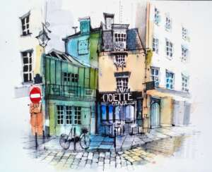 sketching in Paris tour Ian Fennelly