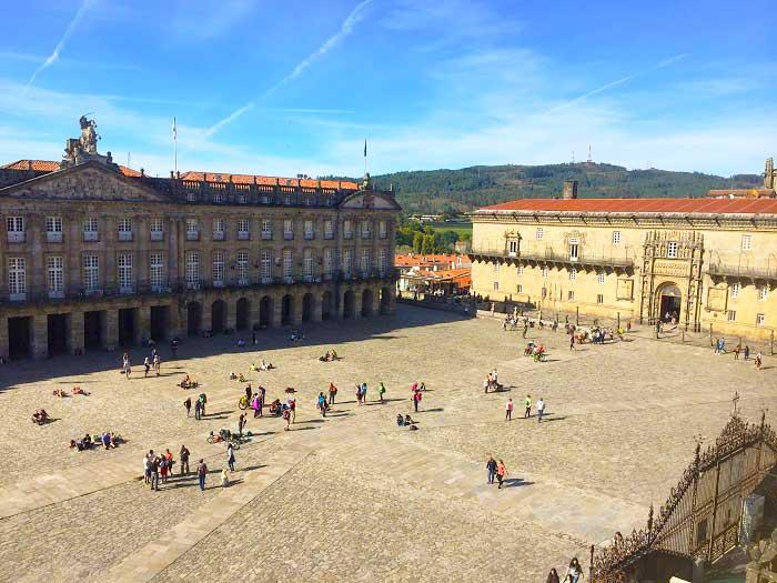 Santiago de Compostela Spain main square for Pilgrims