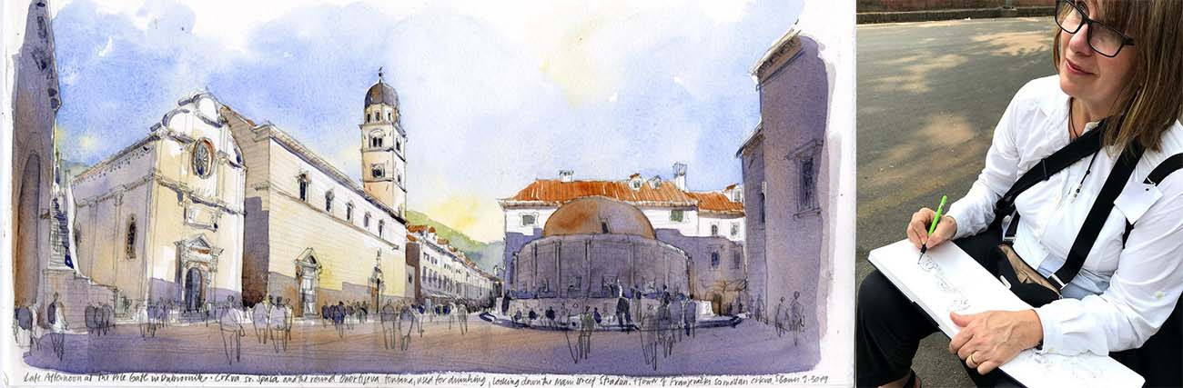 Croatia Sketching tour Stephanie Bower