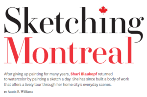Sketching Montreal with Shari Blaukopf tour