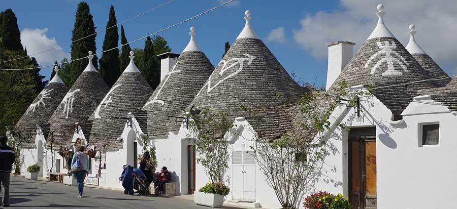 Trulli Houses Alborobello Italy in Puglia