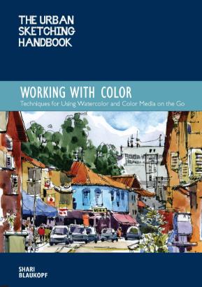 Shari Blaukopf Watercolor sketching book Sketching tour 2020