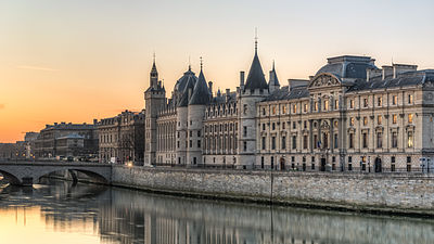 la medieval towers of la conciergerie chateau in Paris